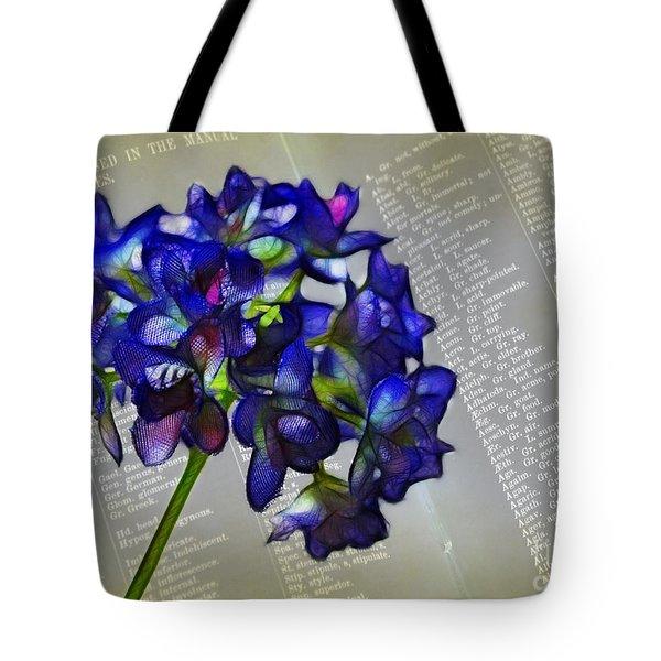 Botany Book Tote Bag by Judi Bagwell