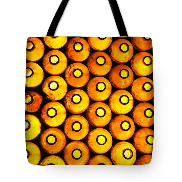 Tote Bag featuring the photograph Bottle Pattern by Nareeta Martin