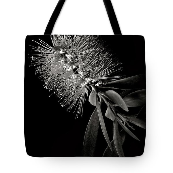 Bottlebrush In Black And White Tote Bag