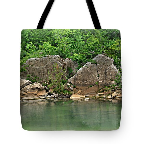 Boulders In The Buffalo Tote Bag by Marty Koch