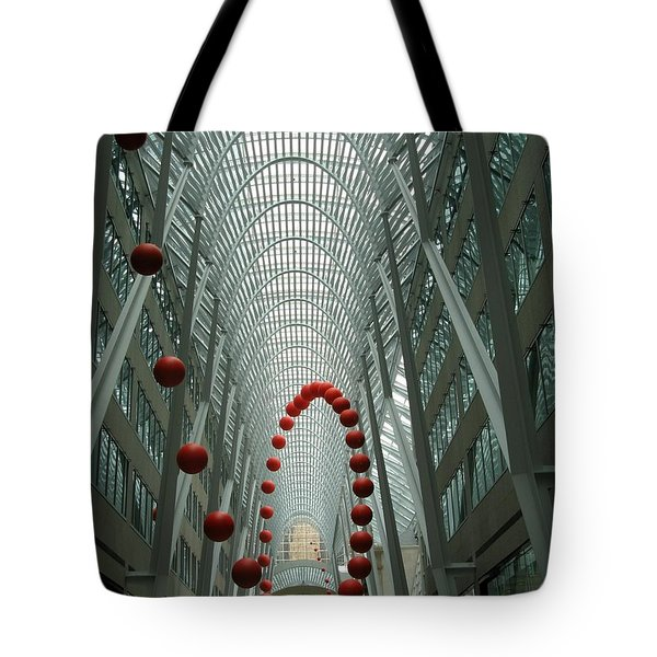 Bouncing Red Balls Tote Bag