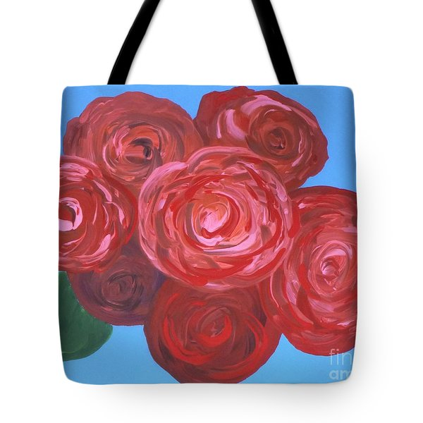 Tote Bag featuring the painting Bouquet Of Roses by Alys Caviness-Gober