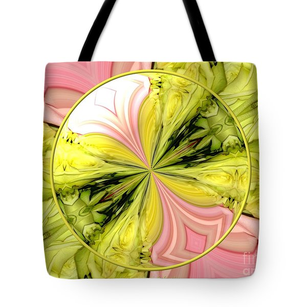 Bouquet Of Roses Kaleidoscope 9 Tote Bag by Rose Santuci-Sofranko