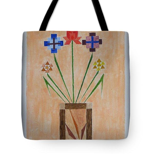 Tote Bag featuring the painting Bouquet by Sonali Gangane
