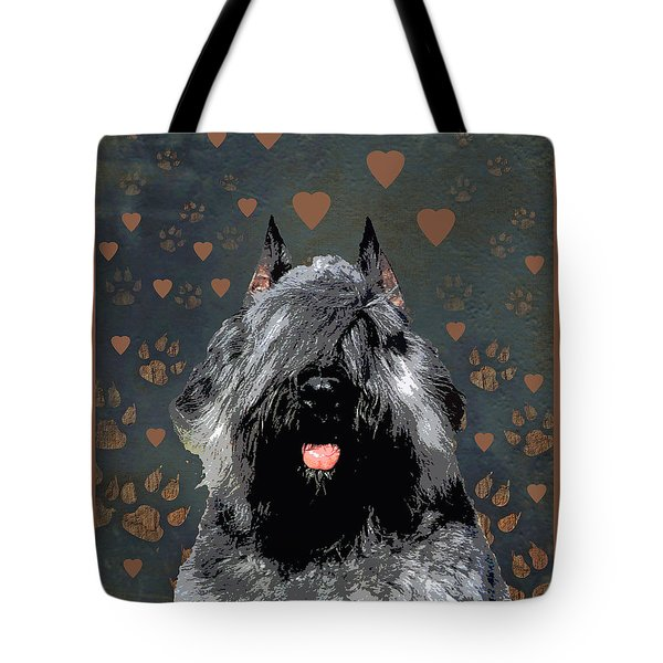 Bouvier Des Flandres Tote Bag by One Rude Dawg Orcutt