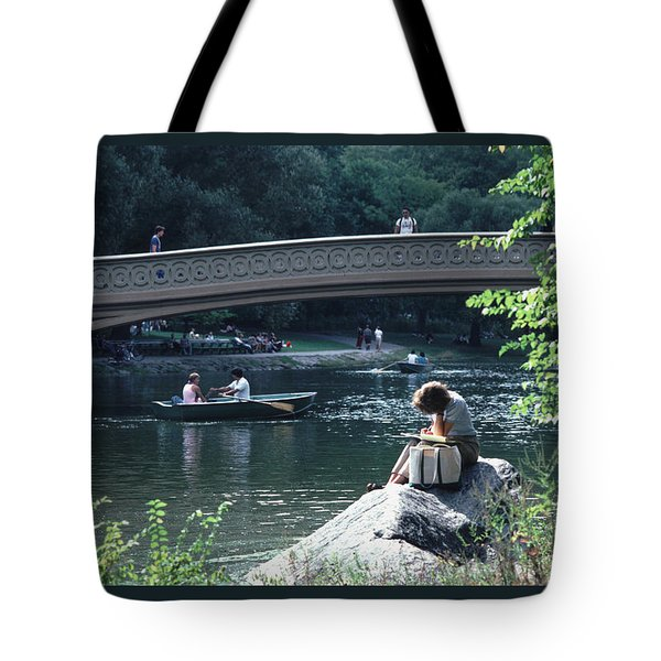 Bow Bridge In Central Park Nyc Tote Bag