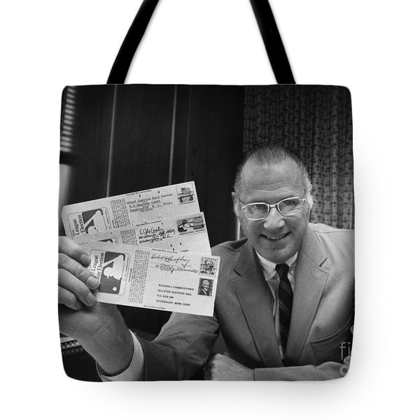 Bowie Kuhn (1926-2007) Tote Bag by Granger