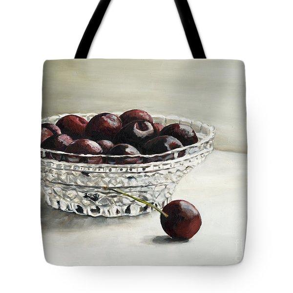 Bowl Full Of Cherries Tote Bag