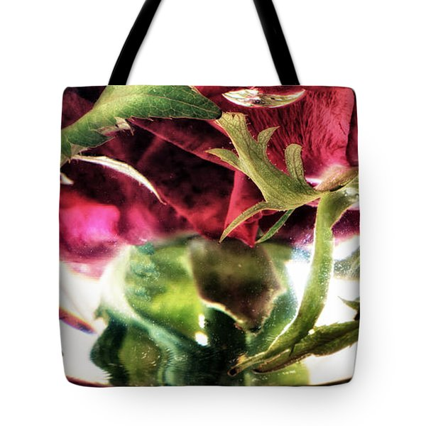 Bowl Of Roses Tote Bag by Stelios Kleanthous