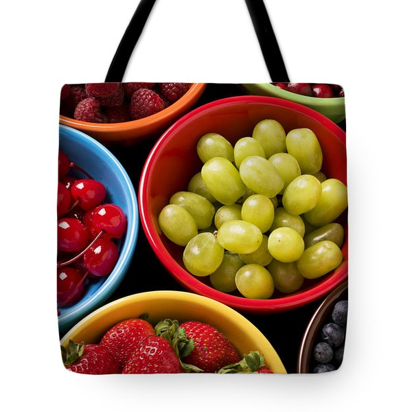 Bowls Of Fruit Tote Bag by Garry Gay