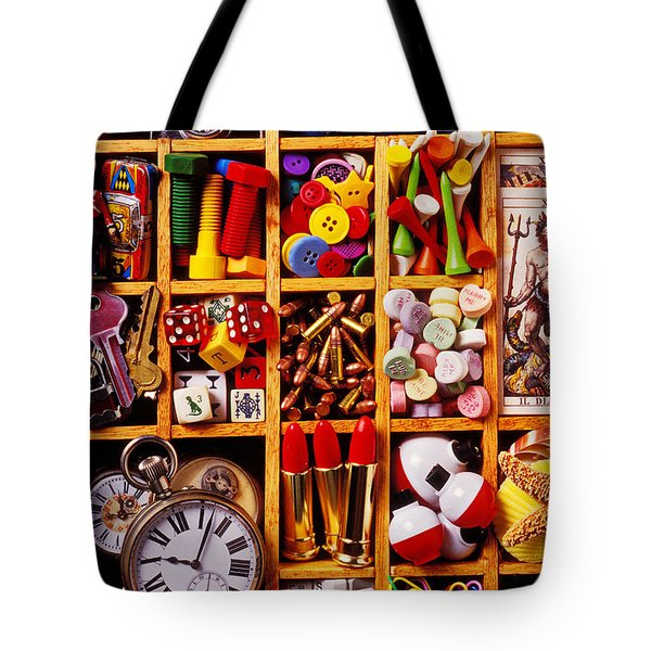 Box With Compartments Tote Bag by Garry Gay