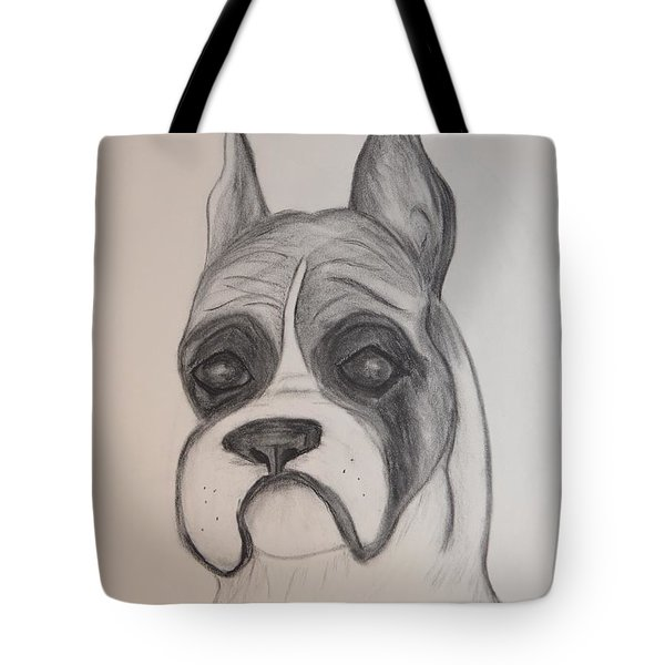 Tote Bag featuring the drawing Boxer by Maria Urso
