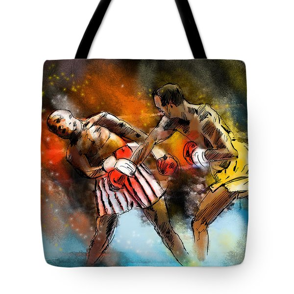 Boxing 01 Tote Bag by Miki De Goodaboom