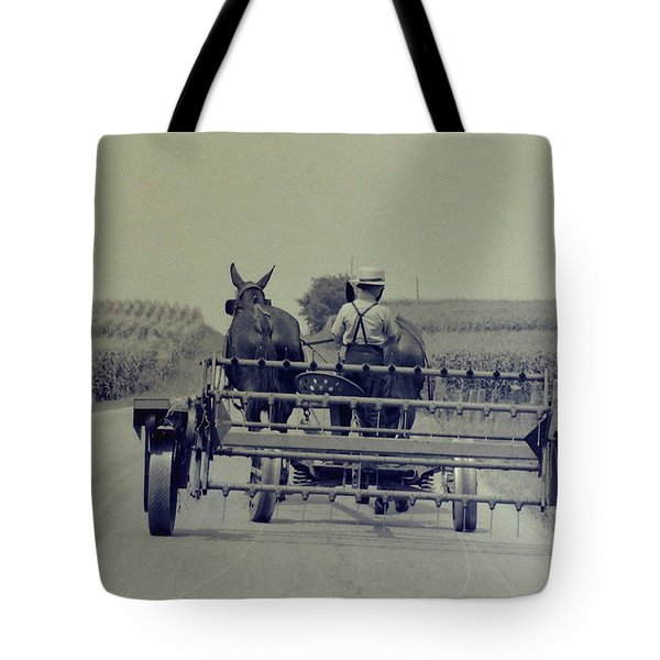 Boy Heads To Work Tote Bag by Mike Martin