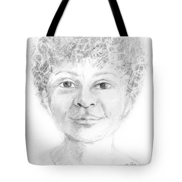 Boy Or Girl Woman Or Man African Or Asian Has Curly Hair Big Lips And A Big Head Tote Bag by Rachel Hershkovitz