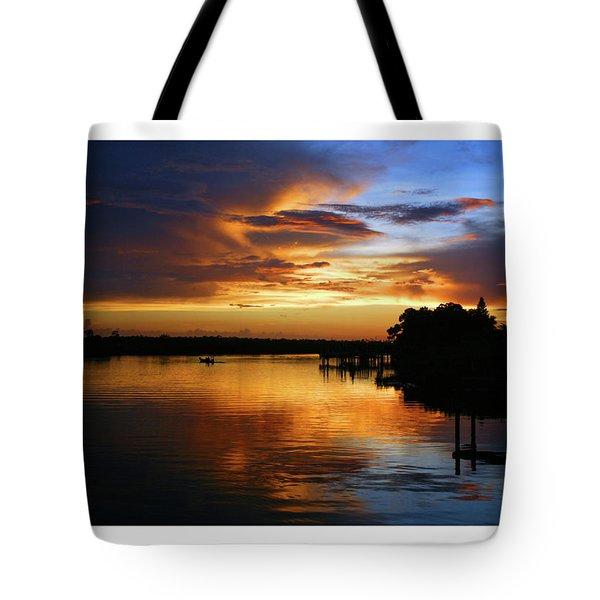 Braden River Sunset Tote Bag