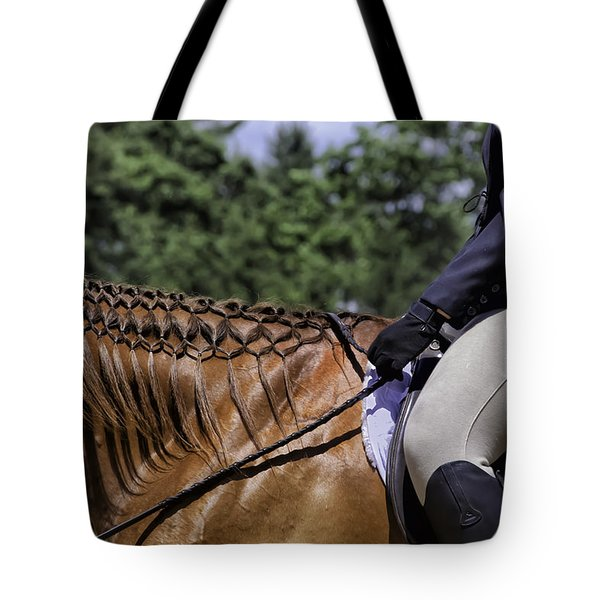 Tote Bag featuring the photograph Braided Mane by Betty Denise