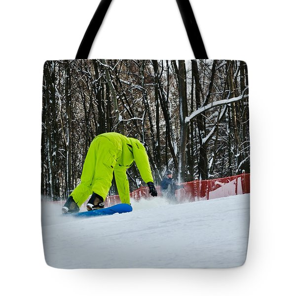Tote Bag featuring the photograph Braking by Michael Goyberg
