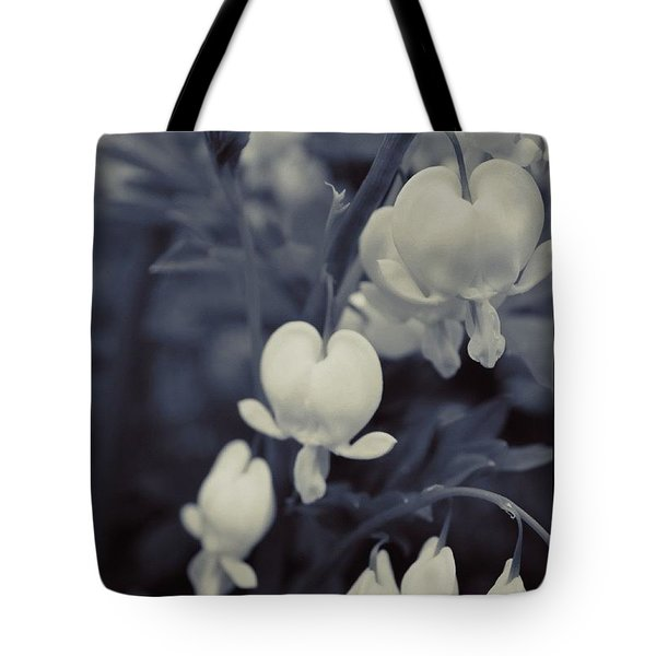 Branch Of Bleeding Hearts In Bw Tote Bag