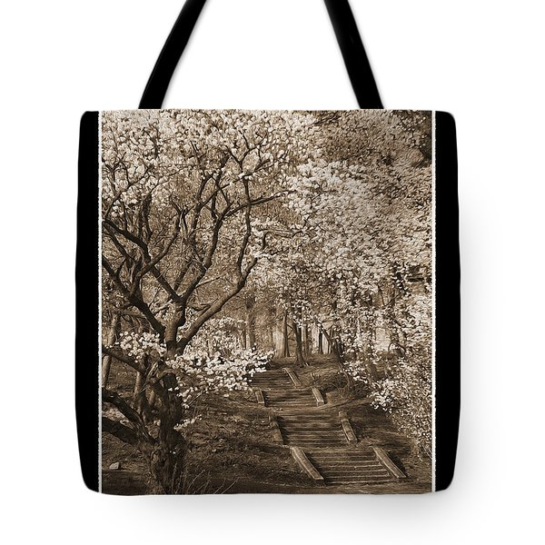 Branchbrook Park In Sepia Tote Bag