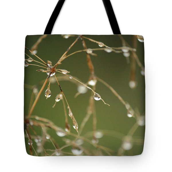 Branches Of Dew Tote Bag by Neal Eslinger