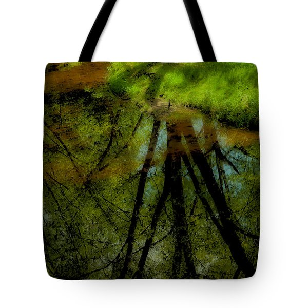 Branches Of Life Reflects Tote Bag by Karol Livote