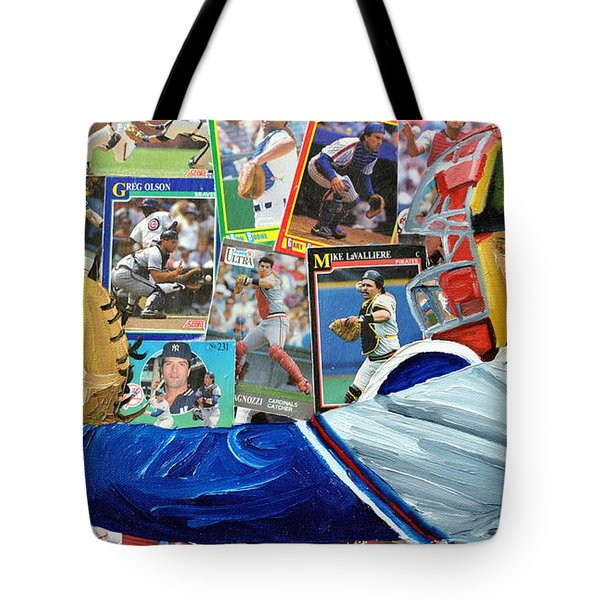 Braves Catcher Tote Bag by Michael Lee