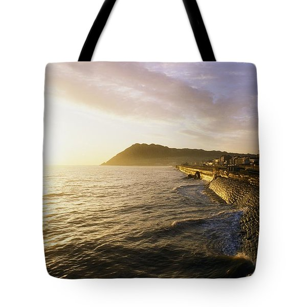 Bray Promenade, Co Wicklow, Ireland Tote Bag by The Irish Image Collection