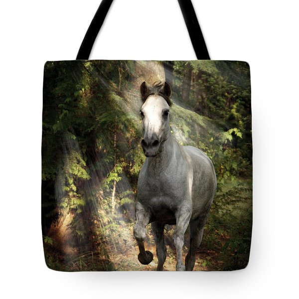 Breaking Dawn Gallop Tote Bag by Wes and Dotty Weber