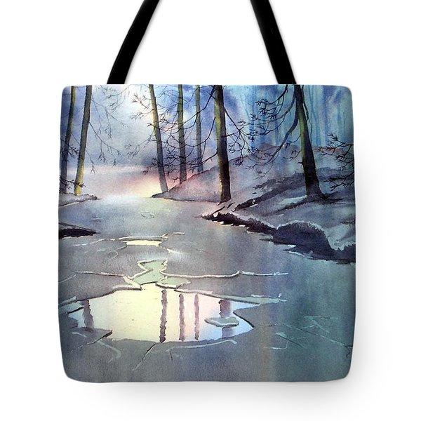 Breaking Ice Tote Bag