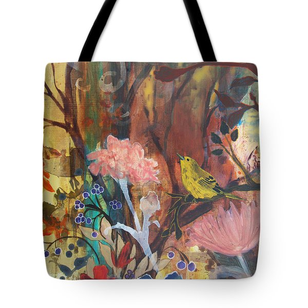 Tote Bag featuring the painting Breath Of Cooler Air by Robin Maria Pedrero