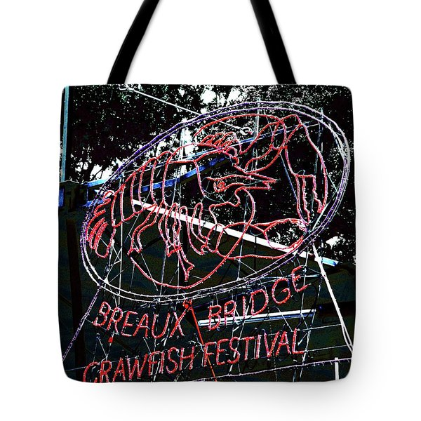 Breaux Bridge Crawfish Festival Tote Bag