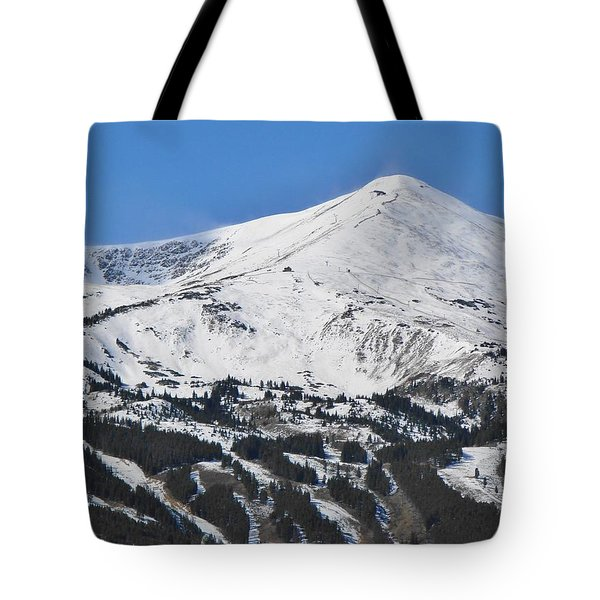 Breckenridge Peak 8 Tote Bag by Margaret Bobb