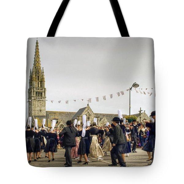 Breton Dancing Tote Bag by Sophie De Roumanie