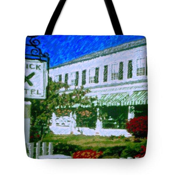 Brick Hotel Tote Bag by Vickie G Buccini