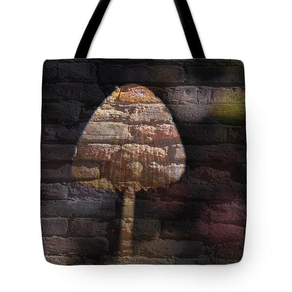 Brick Mushroom Tote Bag by Eric Liller