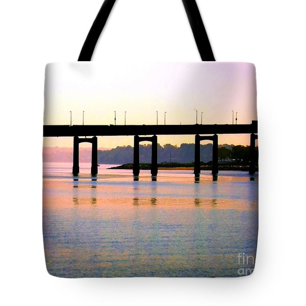 Bridge At Sunset Tote Bag