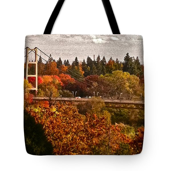 Tote Bag featuring the photograph Bridge by Bill Owen