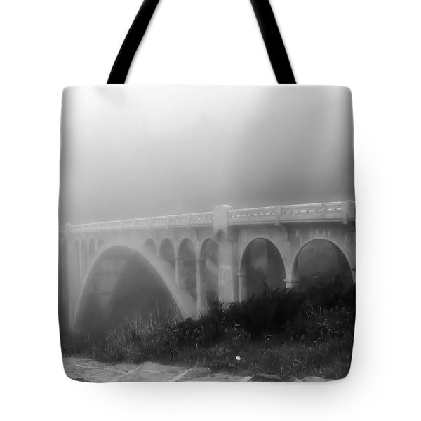 Bridge In Fog Tote Bag