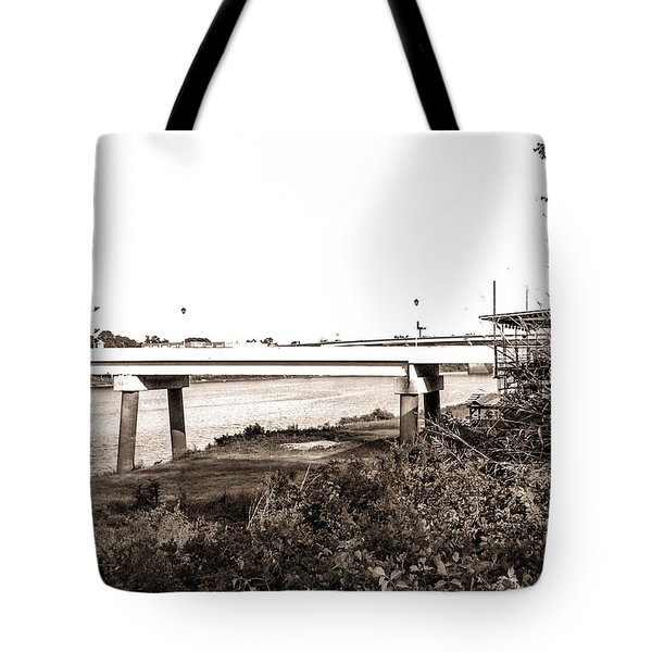 Tote Bag featuring the photograph Bridge In Twin Cities by Ester  Rogers
