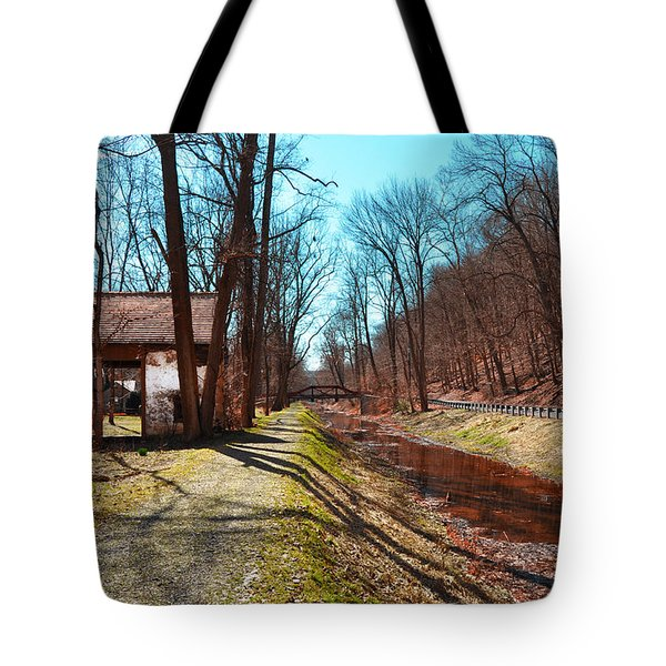 Bridge Number 2 Along The Delaware Canal Tote Bag