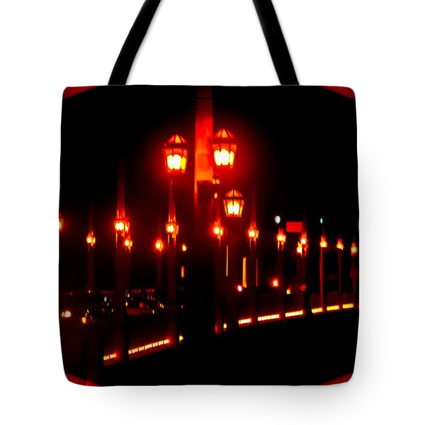 Bridge Of Lions Alit Tote Bag by DigiArt Diaries by Vicky B Fuller
