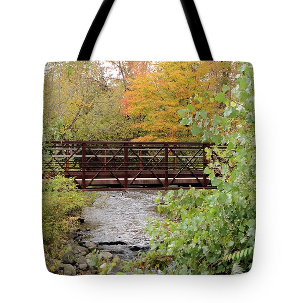Bridge Over River Tote Bag