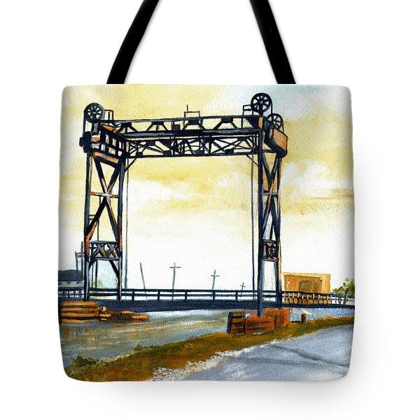 Bridge Over The Bayou Tote Bag by Elaine Hodges