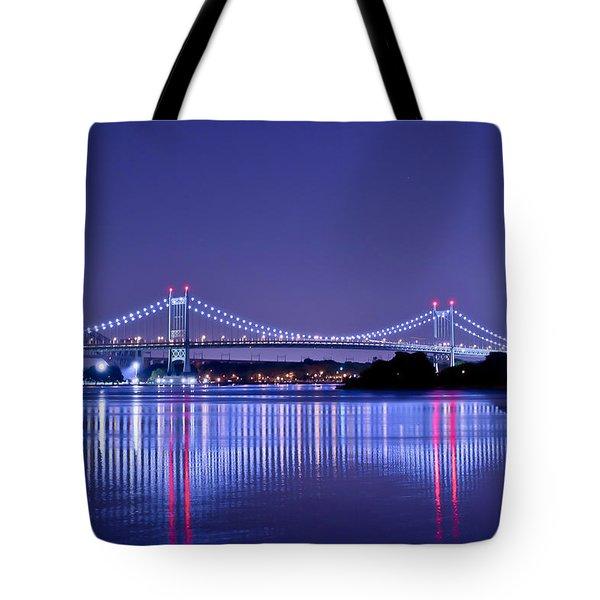 Tri-borough Bridge In Nyc Tote Bag