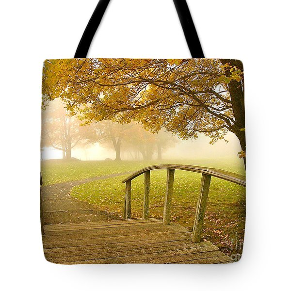 Bridge To Autumn Tote Bag