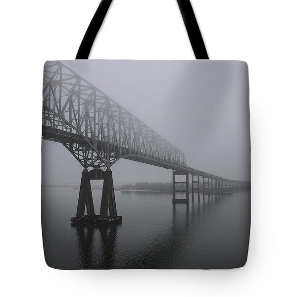 Bridge To Nowhere Tote Bag by Shelley Neff