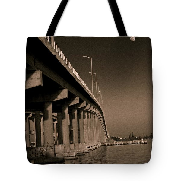 Bridge To The Moon Tote Bag by Roger Wedegis