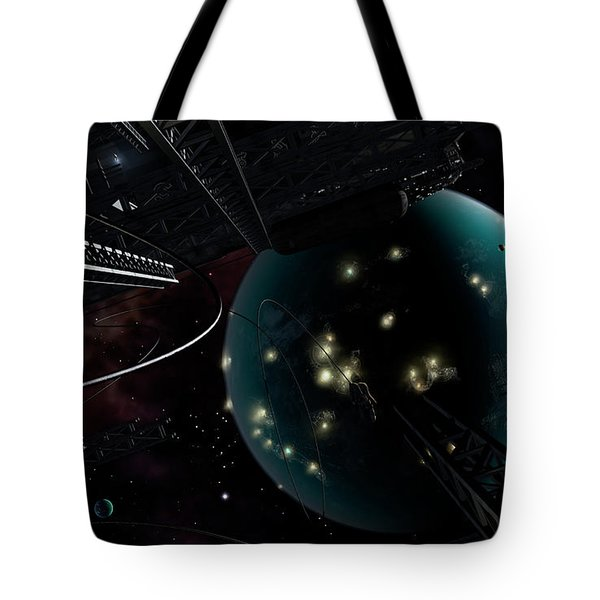 Bright Blisters Of Nuclear Energy Tote Bag by Brian Christensen