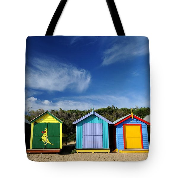 Tote Bag featuring the photograph Brighton Beach by Yew Kwang